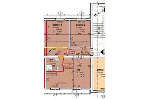 Demnächst: Neu sanierte Mietwohnung (Top 11) mit ca. 56,18 m² + Garten in der Nähe von Ternitz!
