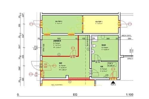 Demnächst: Neu sanierte Mietwohnung (Top 2) mit ca. 61,69 m² in der Nähe von Ternitz!