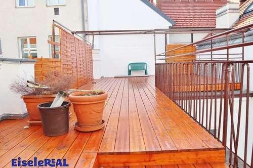 tolle Terrasse + 2 Zimmer + Dachboden - inkl. Heizung