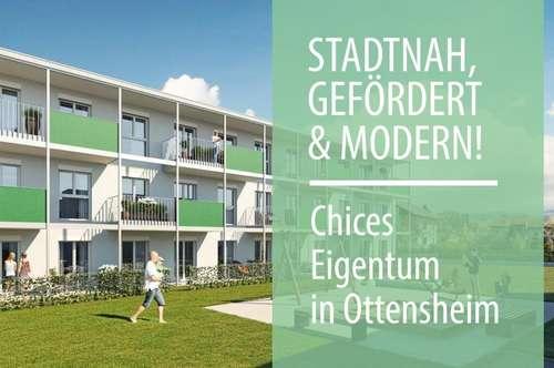 Baubeginn! Perfekt geplante 2-Zimmer Gartenwohnung in Ottensheim (Förderung vom Land OÖ!)