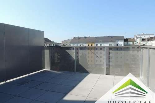 Lichtdurchflutete 4 Zimmer-Neubau-Maisonette-Penthouse mit Sonnenterrassen und Küche - ERSTBEZUG!