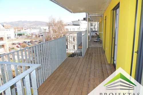 NEUBAU - Ideale Single- od. Pärchenwohnung mit Küche & großem Balkon in Urfahr