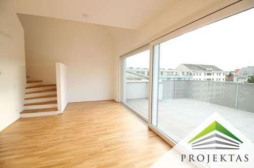 Sensationelles 4 Zimmer-Neubau-Maisonette-Penthouse mit Sonnenterrasse und Küche - ERSTBEZUG!