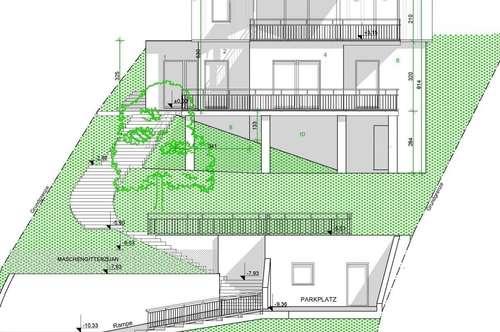 1.398 qm großes Grundstück mit fertigen Fundament für ein Einfamilienhaus