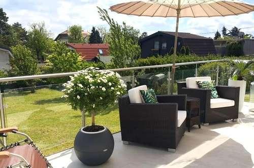 Erholung im Einfamilienhaus mit Terrassen und Grünfläche in ruhiger Gartensiedlung!