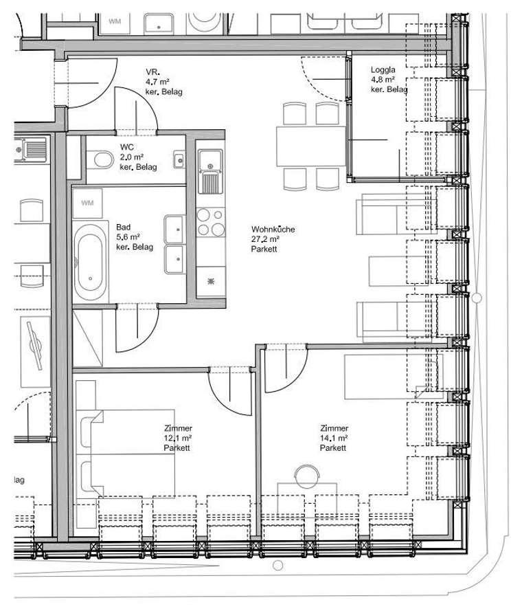 provisionsfreie dg wohnung mit terrasse 1160 wien. Black Bedroom Furniture Sets. Home Design Ideas