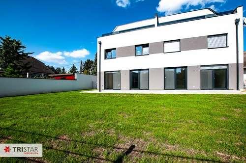 ++ NEU ++ ERSTBEZUG ++ 4-Zimmer-Neubauwohnung mit Garten (ca. 213 m2) + Terrasse (ca. 44 m2) nahe Nationalpark Donau-Auen-Lobau ++ EIN GEFÜHL WIE IN EINER WOHNUNG, BEQUEM WIE IN EINEM HAUS ++