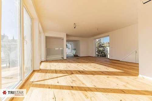 NEU! ++ 1090 Wien ++Erstbezug ++mit Aufzug direkt ins Wohnzimmer ++Dachgeschosswohnung, ca. 175 m2 + 5 Terrassen insg. ca. 103m2 ++Dachterrasse mit Panoramablick++