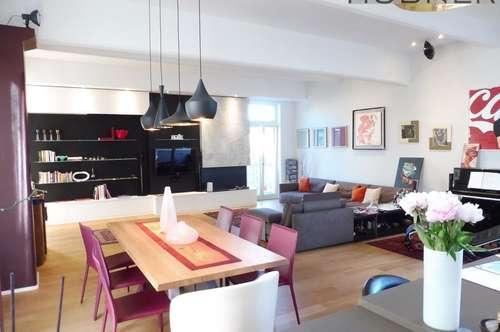 Designer Loft mit 3 Balkonen nahe Mariahilfer Straße! Inklusive Garagenplatz!