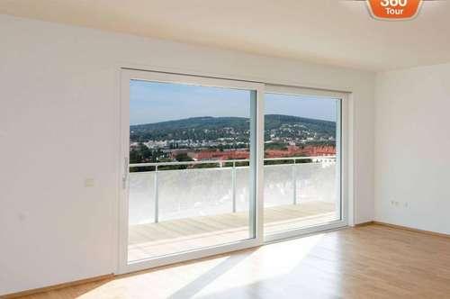 3D-Tour! Top moderne 3 Zimmer Wohnung mit Balkon und wunderschönem Ausblick! Erstbezug!