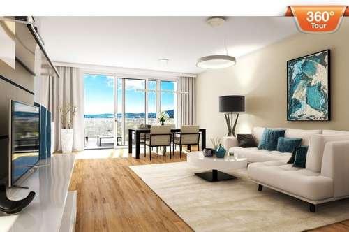 3D-Tour! Wunderschöne Aussicht! Luxuriöses Penthouse mit 2 Terrassen am Baumgartner -Casino- Park!