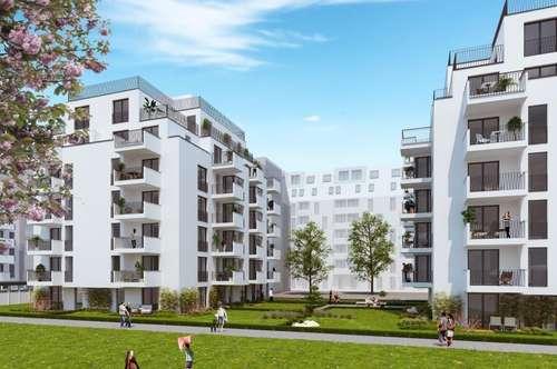 Klimatisierte 2-Zimmer-DG-Wohnung mit 23,3m² Terrassenfläche! Provisionsfreier ERSTBEZUG!!!