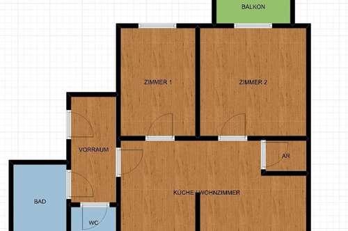 Schöne 3 Zimmer Wohnung mit Balkon in Kalsdorf!