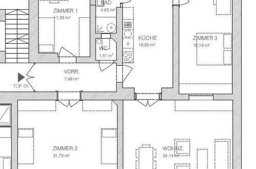 Luxus Altbauwohnung mit 4 Zimmern in der Nähe vom Lendplatz!