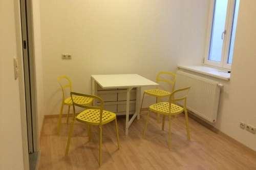 Homanngasse / Junges und frisches Kleinappartement mit Teilmöbilierung!