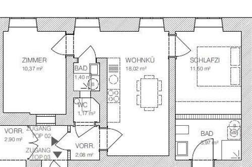 Sanierte 2 Zimmer Altbauwohnung in der Nähe vom Lendplatz!