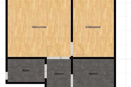 Erstbezug nach Sanierung! Schöne 2 Zimmerwohnung in der Terrassenhaussiedlung!