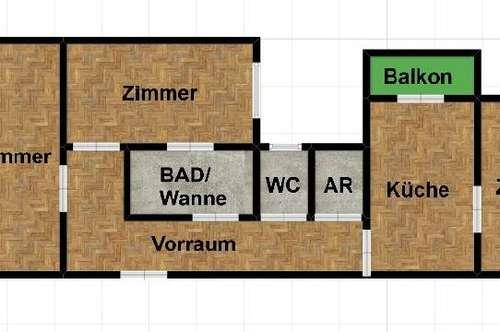 LUXSUS ALTBAUWOHNUNG IN GEIDORF! 3 Zimmer Wohnung mit Balkon in der Nähe des Geidorfplatzes!