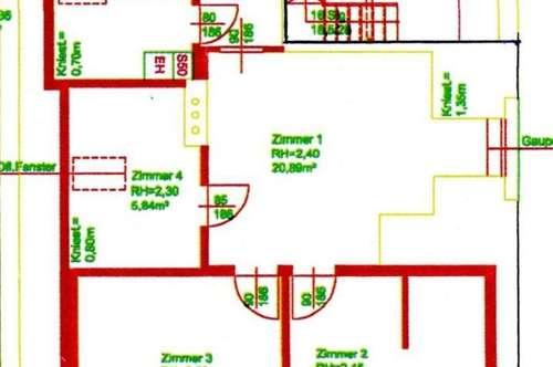 Obergeschoss mit ausbaubarem Spitzboden