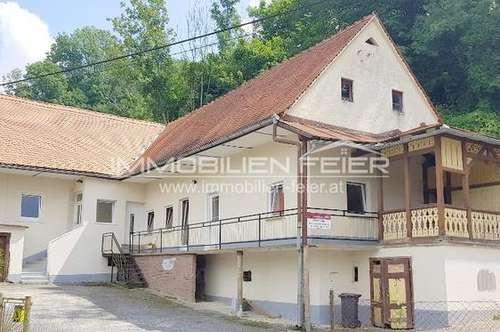 Direkt an der Mur gelegenes Wohnhaus an der österreichischen Grenze