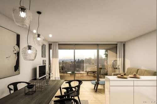 St.Veit - Andritz: 111 m2 Penthouse mit 92 qm Terrasse in Aussichtslage