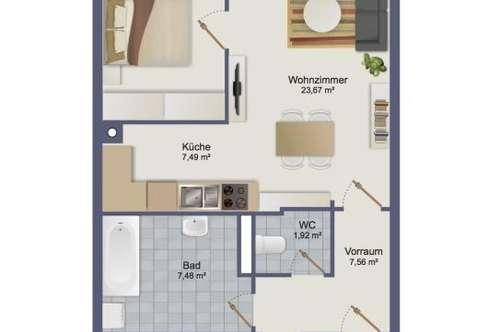 Sehr schöne 3 Zimmerwohnung mit Tiefgaragenplatz!