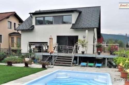 NIEDRIGENERGIE - Neuwertiges Wohnhaus mit Garten und Pool in Traisen zu kaufen - St. Pölten nur 15 km