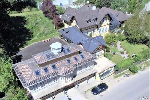 LANDHAUS-VILLA mit Pool-Area, Palmenhaus und Einstellhalle für 25 PKW in ruhiger Landlage in der Nähe von Wien zu kaufen