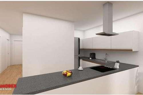 Neubau: Gartenwohnung mit 75 m²