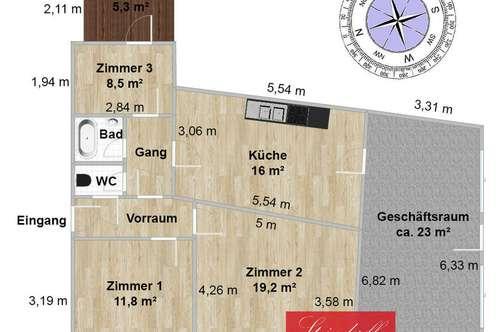 sanierte Eigentumswohnung plus Lagerfläche, Keller, Allgemeingarten Graz-West