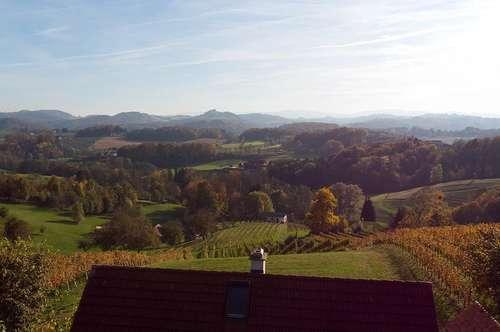 Baubiologisch hochwertiges, exklusives Haus in typisch südsteirischer Aussichtslage mit Weingarten!!!