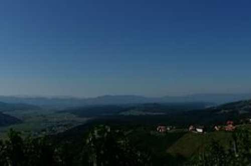 Exklusives Weingut mit Fernsicht und Bauland - Scheibengrund 35km südlich von Graz
