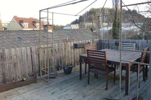 Coole 3-Zimmer-Maisonette mit riesiger Dachterrasse zentral bei der Mur!