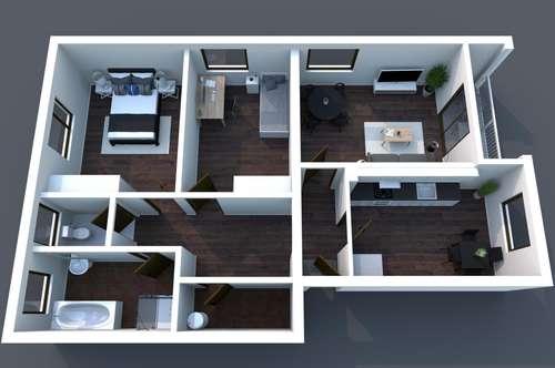 Perfekt für Familien - Balkonwohnung in Gamlitz mit 3 Zimmer + Küche mit Essecke, Garten in 8462 Gamlitz / Leibnitz - Einkaufen, Kindergarten, Schule fußläufig