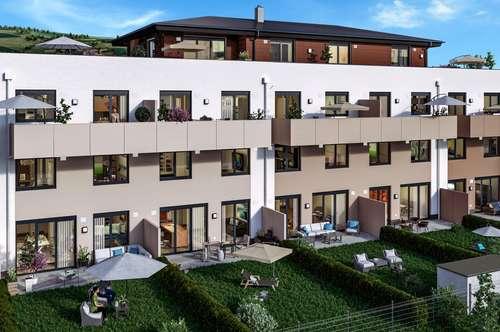 JETZT KAUFEN - 4 Zi. Garten-Maisonette-Wohnung zwischen Mondsee und Irrsee mit 2 Eingängen, Tiefgarage, Gartenanteil - KEINE KÄUFERPROVISION ! ! !