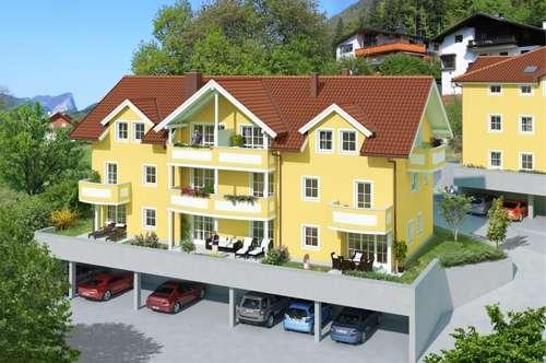"""""""Haus im Haus"""" - 4 Zi. Gartenmaisonettewohnung zwischen Mondsee und Attersee - ca. 100 m² Wfl. - Terrasse - Balkon - Eigengarten - Keller usw."""