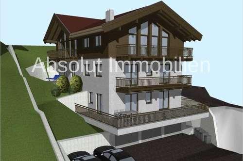 Voll aufgeschlossenenes Grundstück m. genehmigter Planung, in Toplage etwas oberhalb von Zell am See