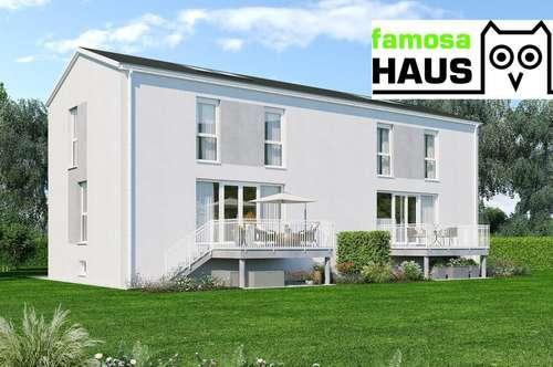Ziegelmassive Doppelhaushälfte mit Vollunterkellerung, Terrasse und Eigengarten samt 2 Parkplätzen. Provisionsfrei!