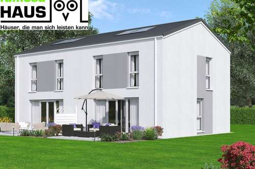 Ziegelmassive Doppelhaushälfte mit Vollunterkellerung und Grundstück mit 2 Parkplätzen. Provisionsfrei!