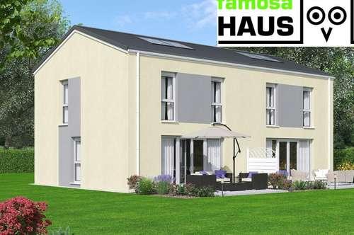 Niedrigenergie-Doppelhaushälfte: 4 Zimmer mit Vollunterkellerung und Sonnengarten samt 2 Parkplätzen. Provisionsfrei!