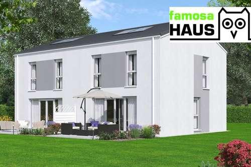 Wohnbaugefördertes Niedrigenergiehaus mit Vollunterkellerung und Eigengrund mit 2 Parkplätzen. Provisionsfrei!