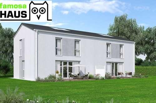 Vollunterkellerte Doppelhaushälfte mit Gartenoase und 2 PKW-Abstellplätze (Eigengrund). Provisionsfrei!