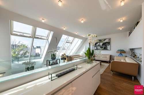 Luxuriös und exquisit: Dachterrassendomizil mit herrlichem Rundblick im Herzen der City