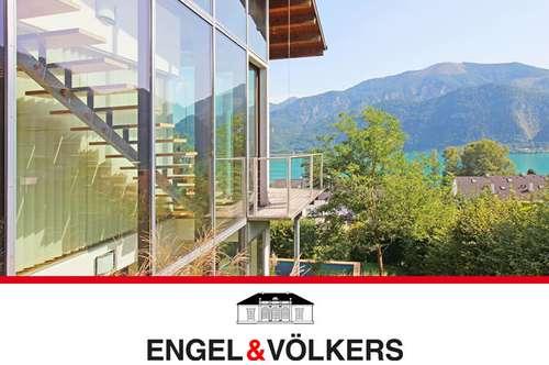 Architektenhaus mit See- und Berg-Panorama
