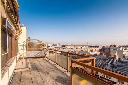 Ganz oben! - Herrliche Dachterrassenwohnung mit toller Aussicht und Garage - RESERVIERT