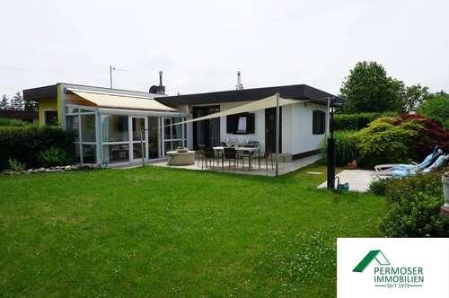 renoviertes Seehaus mit Sauna, Klimaanlage und Wintergarten - auf Pachtgrund