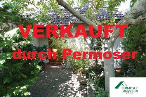 nettes, idyllisches Fertigteilhaus mit kleinem Pool, Gartenhaus und Garage