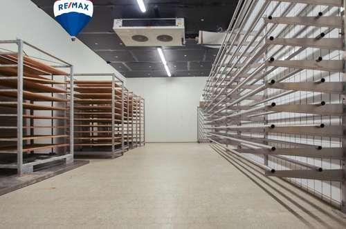 Lagerfläche 210m² - 150m² gekühlt