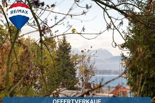 Wunderschön gelegenes Grundstück mit Altbestand nahe Ortszentrum mit Blick zum Bodensee!