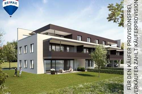 NEUBAU: 4 Zimmer Eck - Terrassenwohnung im 1. OG (26,69 m² Terrasse) zu verkaufen